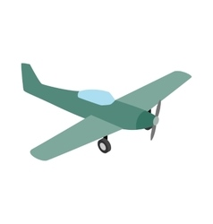 Small plane icon isometric 3d style vector