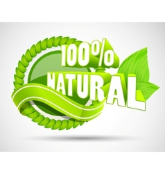 3d eco label vector image