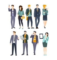 Young professionals set of cool people vector