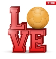 Love handball inscription vector