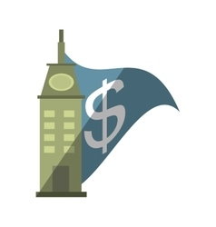 real estate building investment price shadow vector image
