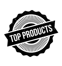 Top Products rubber stamp vector image