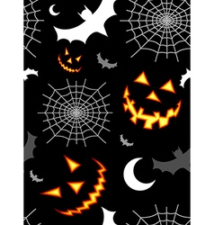 Halloween terror background pattern vector
