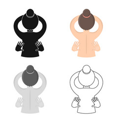 massage icon of for web and vector image