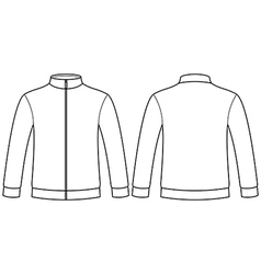 Blank sweatshirt template vector