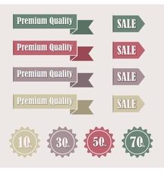 Sale tags vector