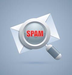 Spam message identification icon vector