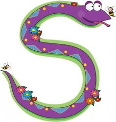 animal alphabet snake vector image