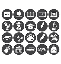 Education icons vector image
