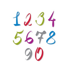 Calligraphic numbers numbers collection vector