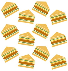 sandwich pattern vector image