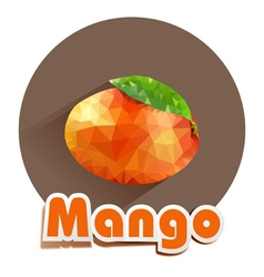 icon of mango triangles vector image