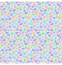 Seamless pattern with colorful hearts vector