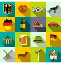 Germany flat icons vector