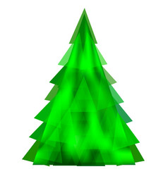 abstract green christmas tree-template vector image vector image