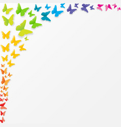 abstract paper cut out butterfly background vector image vector image