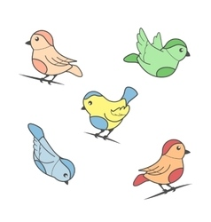 Bird image in color vector image vector image