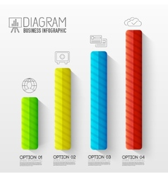 Business abstract 3d digital infographic vector