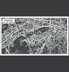 Caracas venezuela city map in retro style vector