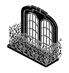 Castle balcony icon simple style vector