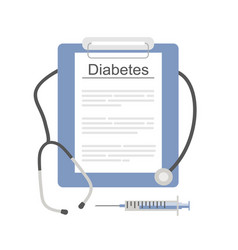diabetes test or diagnosis vector image