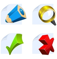 Editor icons for web vector