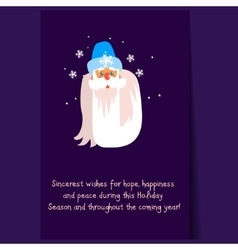 Father frost christmas portrait flat vector