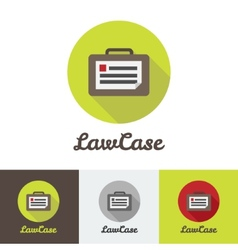 Flat modern minimalistic briefcase logo vector