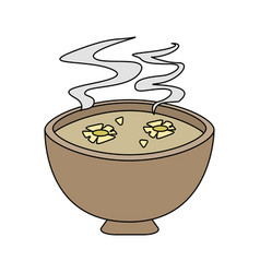 flowers in hot water aromatherapy icon image vector image