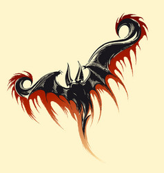 flying demon sketch vector image