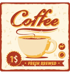 fresh brewed vector image