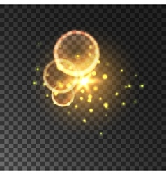 Golden glitter Bokeh shining lights vector image vector image