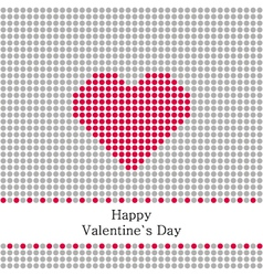 Greeting card valentines day with grey circles and vector