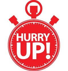 Happy hour alarm clock icon vector image vector image
