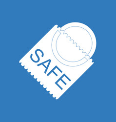 Icon on background safe condom vector