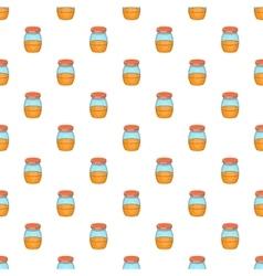 Jam in glass jar pattern cartoon style vector
