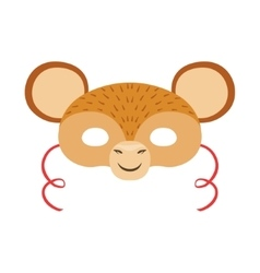 Monkey animal head mask kids carnival disguise vector