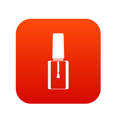 Nail polish bottle icon digital red vector
