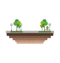 Park with trees icon vector
