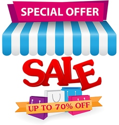 Sale and online shop concept with smartphone vector image vector image