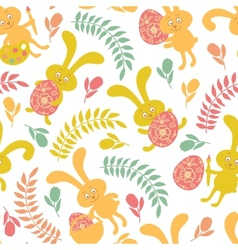 Seamless pattern of Easter bunnies vector image vector image