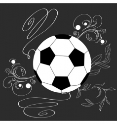 single soccer ball vector image