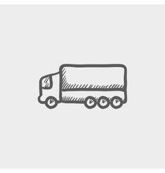 Trailer truck sketch icon vector image