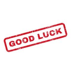 Good luck text rubber stamp vector
