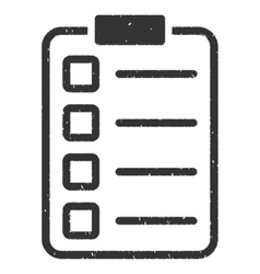Examination icon rubber stamp vector