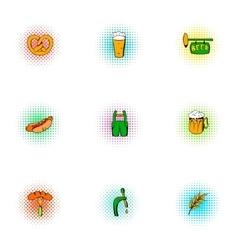 Ale icons set pop-art style vector