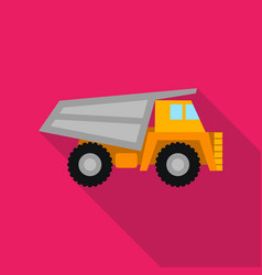 haul truck icon in flat style isolated on white vector image