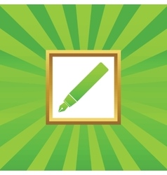 Ink pen picture icon vector