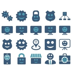 Tools gears smiles dilspays icons vector