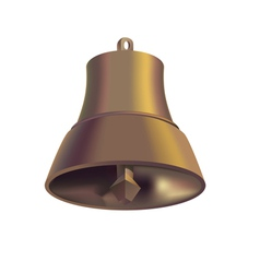 Copper handbell vector